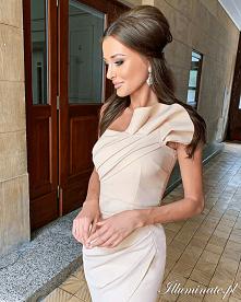 Asymetryczna sukienka wesel...