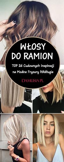 Włosy do Ramion w Modnej Od...