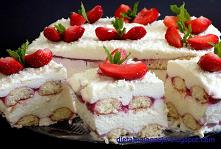 Pyszne ciasto z truskawkami...