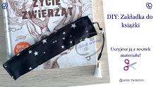 Małe coś z niczego, czyli książkowa zakładka DIY, którą można uszyć z resztek tkanin!  Instrukcje na szycie zakładki znajdziesz po KLIKnięciu w zdjęcie oraz na blogu Adzik-tworz...