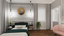 Sypialnia w stylu glamour. ...