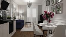 Mieszkanie w stylu glamour....