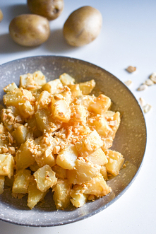 Ziemniaki w maśle orzechowym