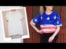 DIY koszulka motyw flaga amerykańska
