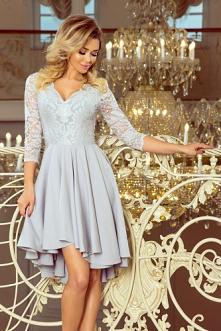 Asymetryczna sukienka koron...
