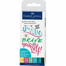 Pisaki artystyczne Faber-Castell - PITT ARTIST PENS HAND LETTERING PASTEL