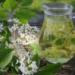"""Syrop z kwiatów czeremchy Kwiatki z około 40 kwiatostanów zalewamy ciepłym syropem zrobionym z 1l wody, 1 kg cukru i z dodatkiem soku z jednej cytryny. Następnie odstawiamy sok w ciepłe, słoneczne miejsce. Po 3-4 dniach odcedzamy, doprowadzamy do wrzenia i wekujemy. Można go pić z wodą lub dodawać do innych napojów czy deserów. Ze względu na migdałowy aromat, można nim zastępować sztuczne """"olejki"""" migdałowe."""