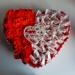 Serce ze słodyczy na Dzień Mamy.  Strona na fb: Kleo Art 2020
