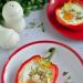 Papryka zapiekana z jajkiem i mozzarellą