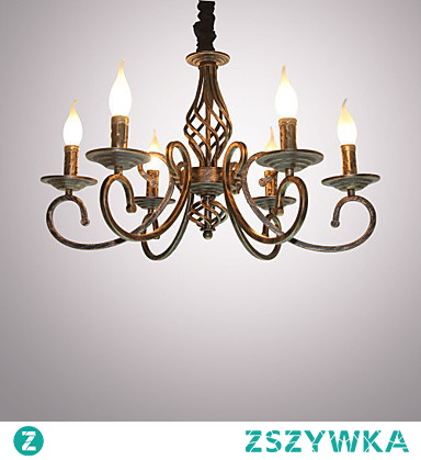 6 Light Candle-style Chandelier Ambient Light Painted Finishes Metal Candle Style Bulb Included / E12 / E14