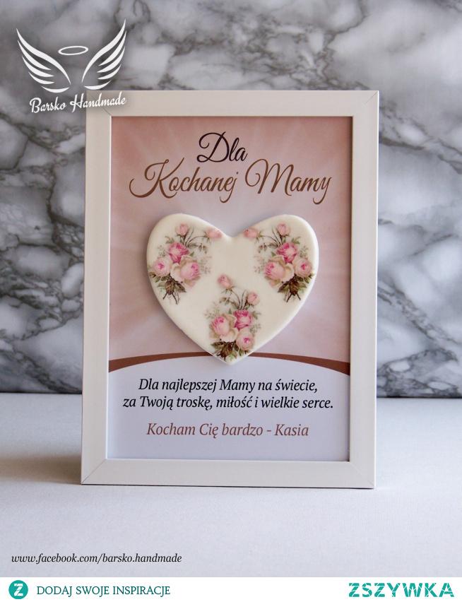 Serce dla Kochanej Mamy - ramka 15x21