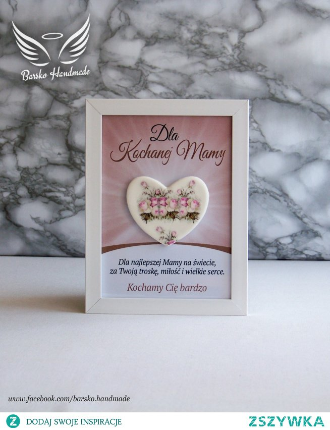 Serce dla Kochanej Mamy - ramka 13x18