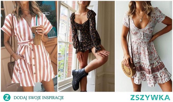 Wiosenne stylizacje z sukienką mini