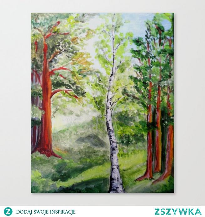 Obraz z nadrukowanym wzorem: Las latem  Forest in summer Canvas Print