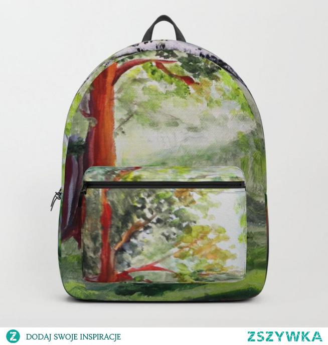 Plecak z nadrukiem wzoru: Las latem  Forest in summer Backpack