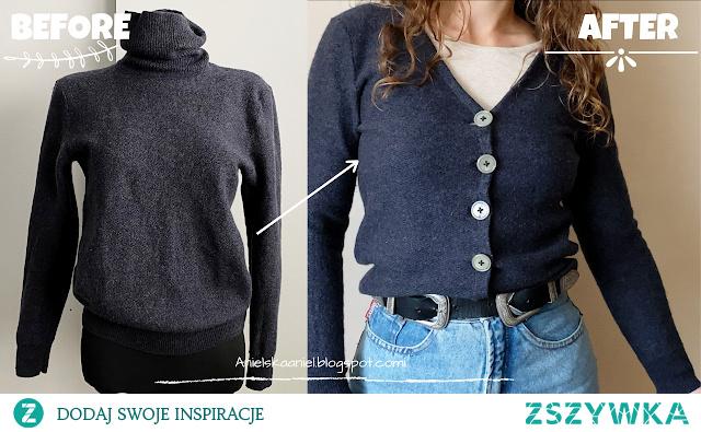metamorfoza swetra diy