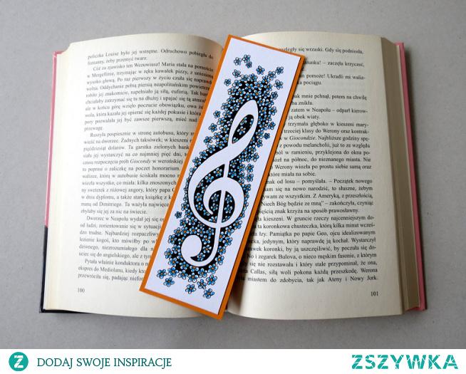 Zakładka do książki w stylu Zentangle