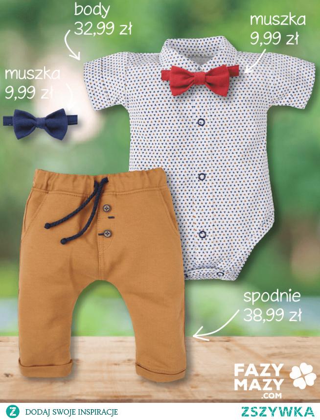 Nowe eleganckie body koszulowe dla chłopca
