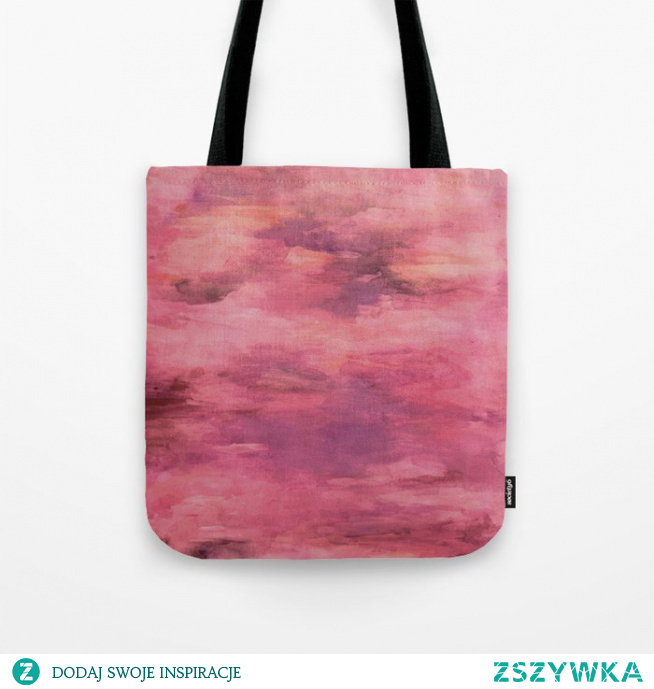 Torba z namalowanym wzorem  Bag with a painted pattern
