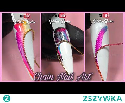 Técnica CHAIN STRING PULL Nail Art