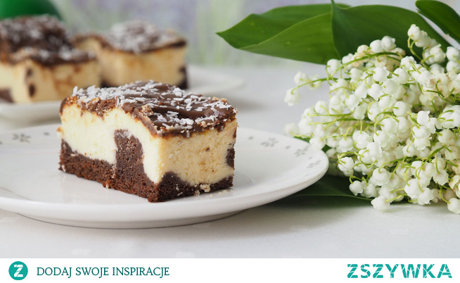 """Sernik Izaura. Ciasto znane jeszcze w latach 80, kiedy leciał serial """"Izaura"""". I właśnie na cześć tego serialu został wymyślony ten sernik. Jest to połączenie ciasta czekoladowego, przypominające trochę murzynka z wilgotną i  kremową masą serową, która sprawia, że chce się więcej, więcej i więcej…  Zapraszam na przepis."""