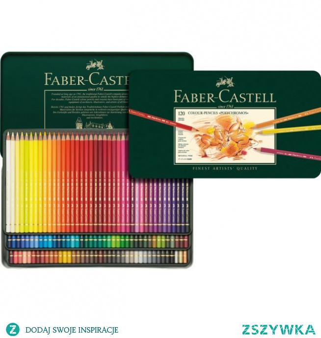 Kredki Polychromos 120 kolorów w metalowym opakowaniu