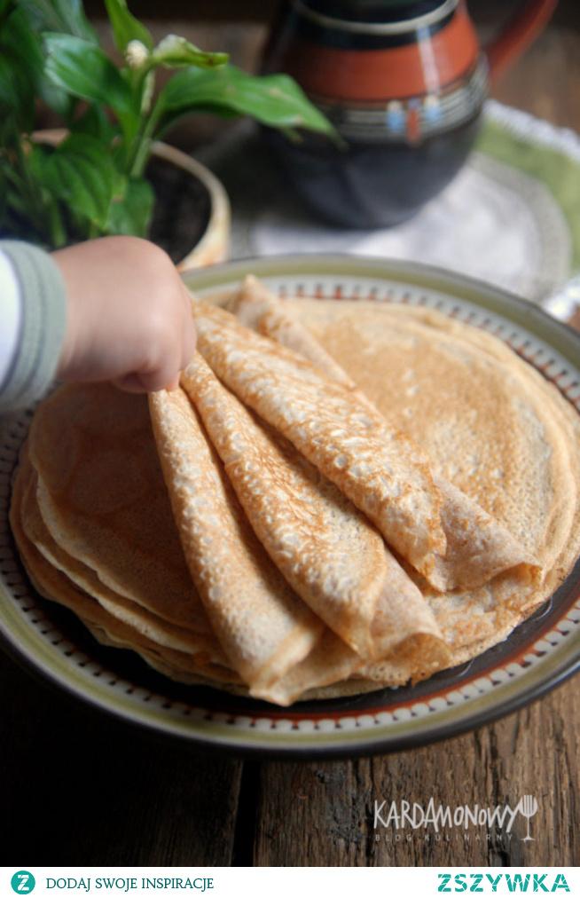 Naleśniki z mąki pełnoziarnistej