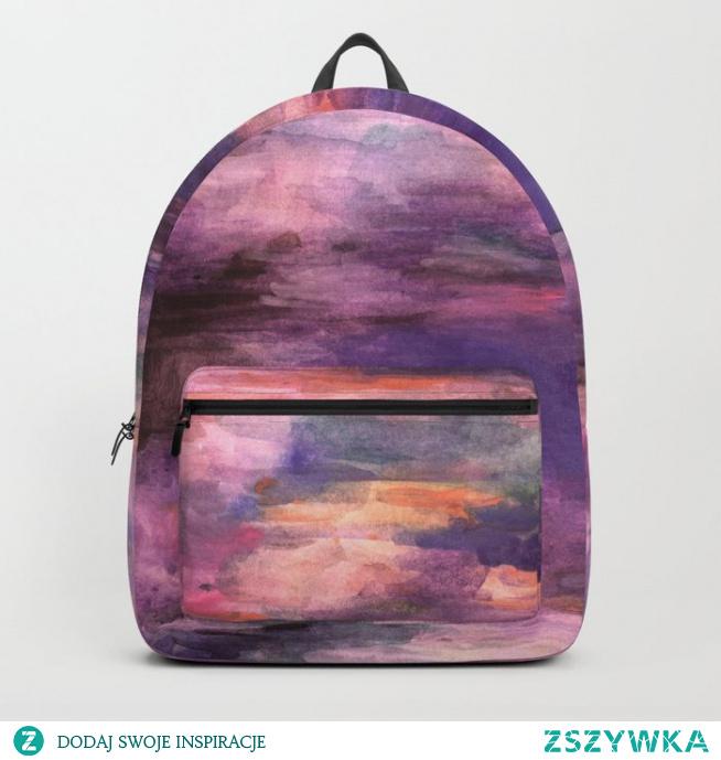 Plecak  ze wzorem Kolorowo - fioletowe odcienie  Colors - purple shades Backpack