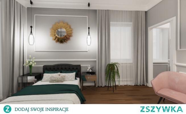 Sypialnia w stylu glamour. Chcesz mieszkać pięknie oraz wygodnie zapraszam do współpracy razem stworzymy projekt idealny