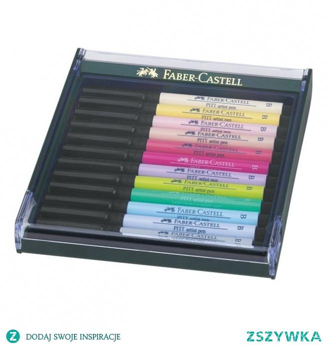 Pisaki artystyczne Faber Castell PITT ARTIST PEN - PASTEL - 12 kolorów