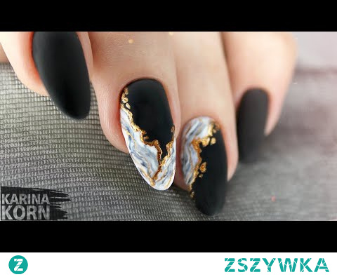 Мраморный маникюр / Текстура натурального камня / Самый быстрый дизайн / Marble nail art