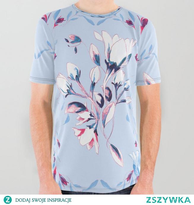 Koszulka ze wzorem Kwiat - wiosna 1A   Flower - spring 1 A All Over Graphic Tee