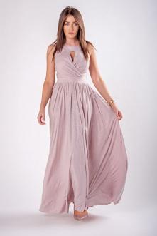 Zjawiskowa sukienka z broka...