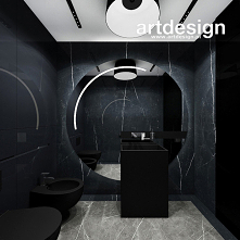 Nowoczesna łazienka w ciemn...