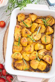 Pieczone ziemniaki z rozmar...