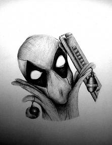 Deadpool szkic.