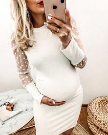 Sukienka Ciążowa Dots Ecru