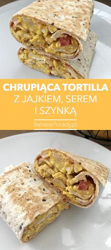Chrupiąca Tortilla z Jajkiem, Serem i Szynką