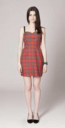 Sukienka czerwona w kratę -...