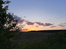 Ładny zachód słońca:)