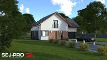 Efektowny projekt domu o pr...