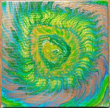 Obraz akrylem, 40 x 40 cm, kolorystyka ciepła. Na sprzedaż