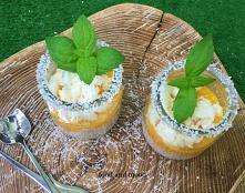 Deser mango z kokosową pianką :)