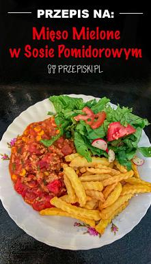 Szybki Obiad: Mięso Mielone w Sosie Pomidorowym z Frytkami