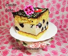 Ciasto   Lato  Biszkopt , tym razem z olejem Blaszka   25x34 8 - jajek 1.5 szkl. cukru 1 szkl. mąki pszennej 2/3 szkl. mąki krupczatki 1 1/3 szkl. cukru 2 łyżeczki proszku do pi...