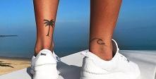 Tatuaż palma i fale