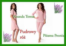 Pudrowy róż piżama peonia i...