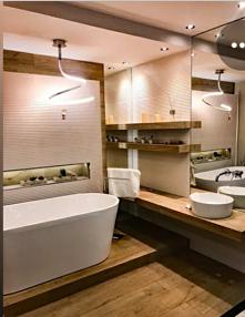 #łazienka#wanna#drewno