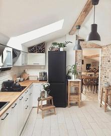 #kuchnia #biel #drewno