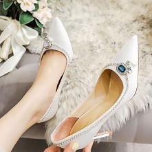 Moda Białe Buty Ślubne 2020...
